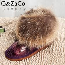 s boots with fur g zaco luxury s fox fur boots genuine