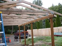 Carports Attached To House Lean To Carport Build The Garage Journal Board