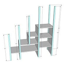 Make L Shaped Bunk Beds Bunk Patterns With Stairs White Sweet Pea Garden Storage Diy