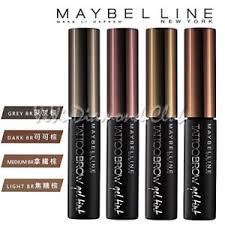 tattoo eyebrows by maybelline maybelline new york tattoo brow gel tint waterproof eyebrow color