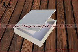 8x10 Photo Album 8x10 Fabric Linen Photo Book Album Packaging Box View Magnet