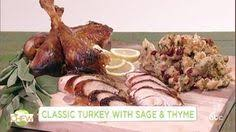 classic turkey with and thyme recipe the chew abc