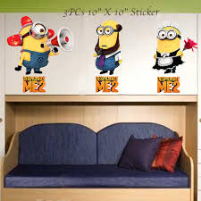 wall stickers decals 3 roselawnlutheran despicable me 2 minion wall decal sticker