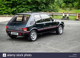 peugeot 205 gti peugeot 205 gti restored dark green 1 9 litre stock photo
