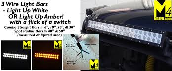 led road lights 3 wire white plus light bars m4 products
