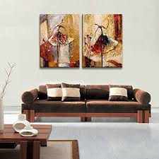 Contemporary Art Home Decor Wieco Art Ballet Dancers 2 Piece Modern Decorative Artwork 100