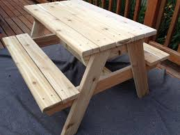 How To Make A Round Wooden Picnic Table by Kids U0027 Picnic Table 8 Steps With Pictures