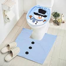 couvre siege wc noël bonhomme de neige housse siège de toilette cover couverture
