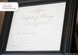 free printable marriage certificate red pearl designs
