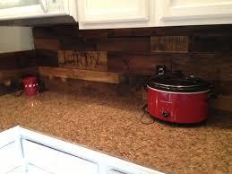 Pallet Wood Kitchen Backsplash - Kitchen backsplash wood