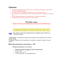 gas laws module