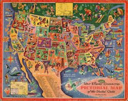 Usa Puzzle Map by Walt Disney Character Pictorial Map Of The United States B U2026 Flickr