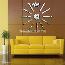 Whole Sale Home Decor Wholesale Home Decoration Rectangle Mirror Effect Wall Clock
