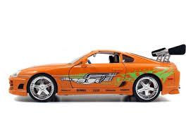 cars toyota supra amazon com new 1 18 fast u0026 furious 7 orange brian u0027s toyota