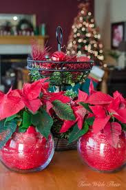 glass bowl poinsettia plant christmas gift time with thea