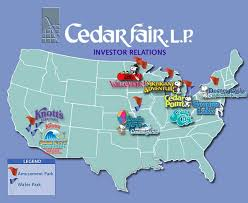 cedar fair parks map stock market text images glogster edu