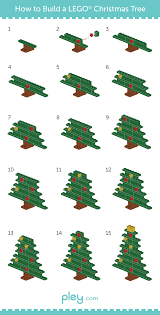 pley reveals how to build a lego snowman christmas tree and santa
