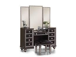 bedroom impressive vanity mirror with black high gloss vanity