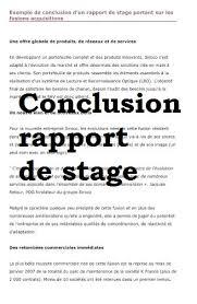 bureau des stages 10 conclusion rapport de stage entire pictures perfectionnement