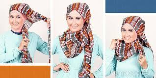 tutorial turban sederhana tutorial hijab dengan pashmina motif tribal sederhana vemale com