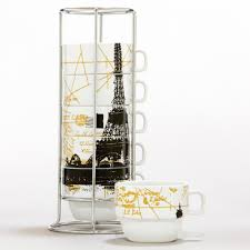 Gifts For The Kitchen Eiffel Tower Stacking Mugs Kitchens Apartments And Dream Rooms