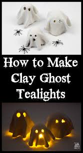 how to make a clay ghost tealight battery operated clay and craft