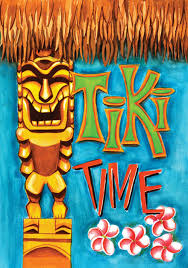 Decorative Flags For The Home Amazon Com Toland Home Garden Tiki Time 28 X 40 Inch Decorative