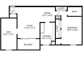 one bedroom floor plans one bedroom apartment homes with den blacksburg va