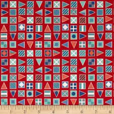 nautical flags red discount designer fabric fabric com