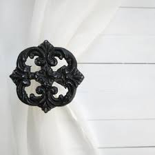 White Metal Curtain Holdbacks Shop Shabby Curtain Tie Backs On Wanelo