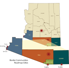 Nogales Mexico Map by Border Communities Roadmap Arizona Mexico Commission