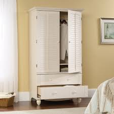Sauder White Bookcase by Harbor View Armoire 158036 Sauder