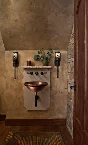 Bronze Bathroom Mirrors by French Powder Room Mediterranean With Wall Lighting Bronze
