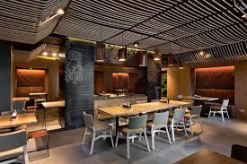 interior modern restaurant deisgn combined with laminated wooden