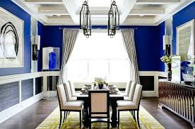 navy blue dining room dining room navy blue walls with a chair rail and white bottom