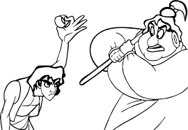 aladdin hand painted coloring page wecoloringpage