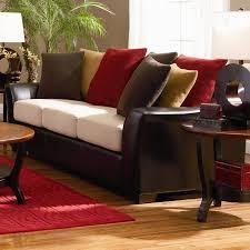 Couch Vs Sofa Coaster Lily 501891 Brown Microfiber Sofa In Los Angeles Ca