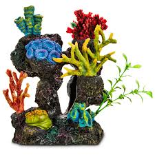 silk plants imagitarium coral reef with silk plants aquarium ornament petco