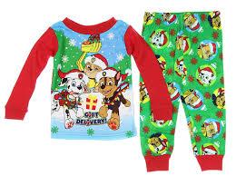 amazon com paw patrol christmas holiday toddler pajamas clothing