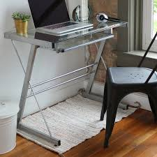silver metal glass computer desk free shipping today overstock