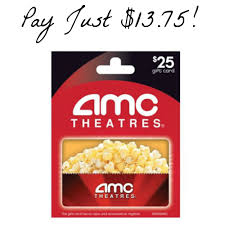 amc gift card deals hurry 25 amc theaters gift card just 13 75