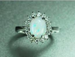 opal diamond engagement rings vintage opal diamond engagement ring