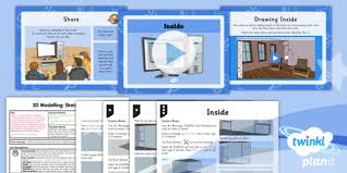 3d modelling sketchup year 5 inside lesson pack 3