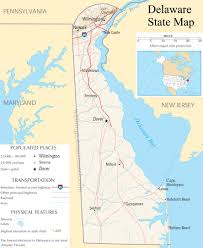 Delaware Map Usa by Delaware State Map A Large Detailed Map Of Delaware State Usa