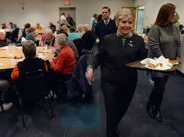 senior center opens with thanksgiving feast the daily gazette