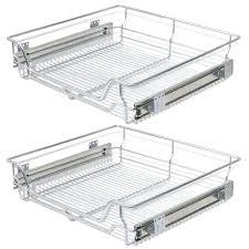 panier coulissant pour meuble de cuisine tiroir de cuisine coulissant vidaxl panier en treillis mactallique 2