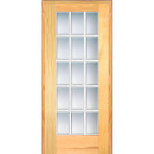 Home Depot Doors Interior Pre Hung by Builder U0027s Choice 48 In X 80 In 10 Lite Clear Wood Pine Prehung