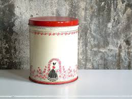 tin kitchen canisters vintage 1950 s tin kitchen canister retro storage kitchen