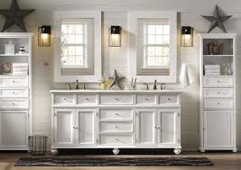 Modern Country Style Bathrooms by Country Style Bathroom Cabinets Double Sink With Framed Mirror