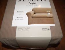Sure Fit 3 Piece Sofa Slipcover by Polyester 3 Seater Sofa Sure Fit Furniture Slipcovers Ebay